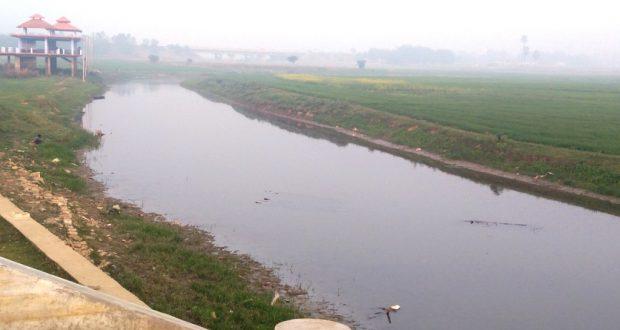 मगहर में कबीर आश्रम के पास आमी नदी