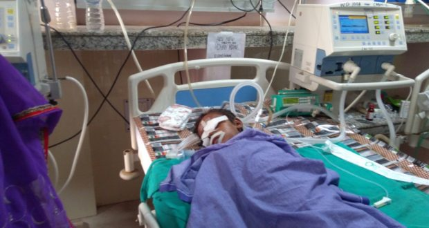 बीआरडी मेडिकल कालेज में भर्ती बच्चा (फाइल फोटो)